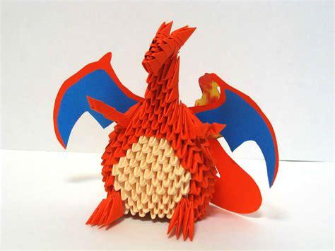 charmander origami 3 d origami charizard by pandanpandan on deviantart