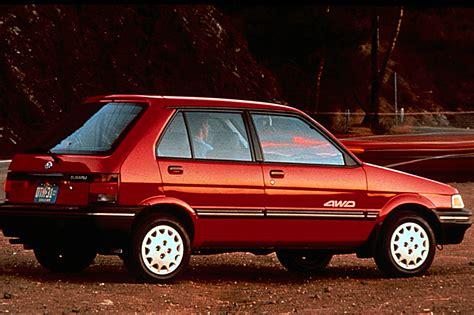 how petrol cars work 1993 subaru justy engine control 1990 94 subaru justy consumer guide auto