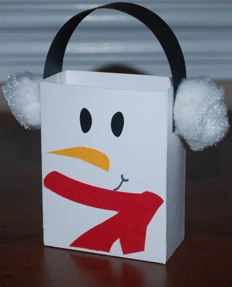 paper bag snowman craft let it snow pazzles craft room
