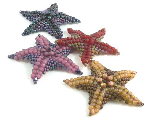 beaded starfish sea also known as starfish bead by daxbeadartpatterns