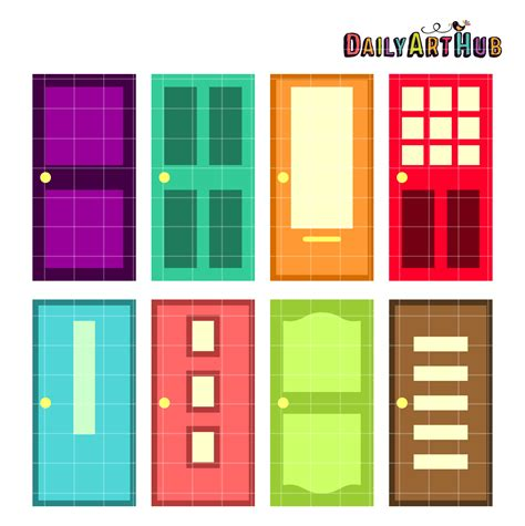 colorful doors colorful doors clip set daily hub