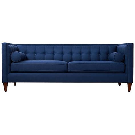 navy tufted sofa jodi 84 quot tufted sofa navy sofas loveseats 1 519 liked