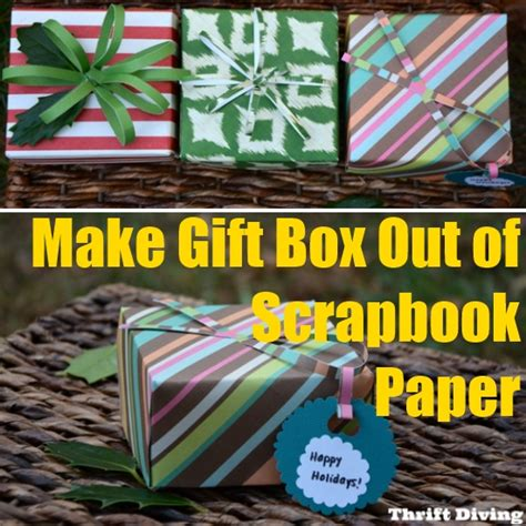 how to make a gift box out of card how to make gift box out of scrapbook paper diy home things