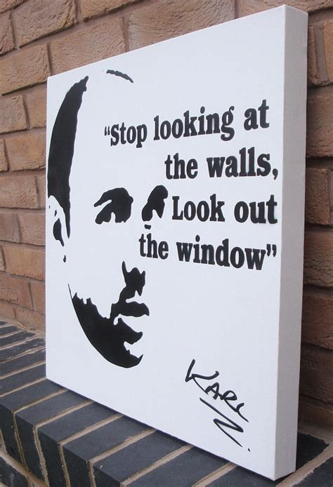 spray painting quotation karl pilkington stencil spraypaint quote by ramart79 on