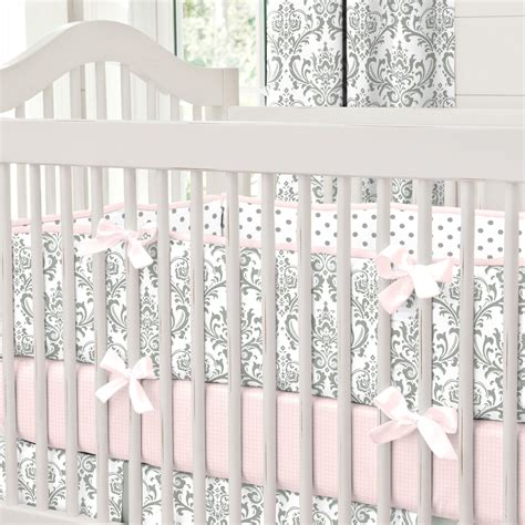 crib bedding bumpers pink and gray traditions crib bumper carousel designs