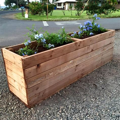 wooden planter box diy pallet planter or pot holder pallet furniture