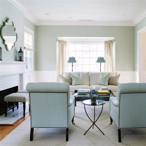 blue chairs for living room white and blue living room with blue roll back chairs