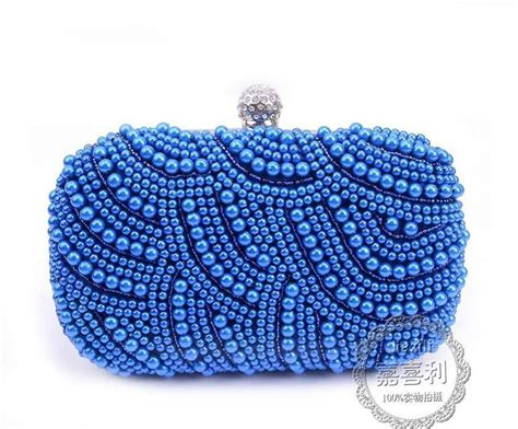 beaded clutches new 2016 purple pearls evening bags blue black grey beaded