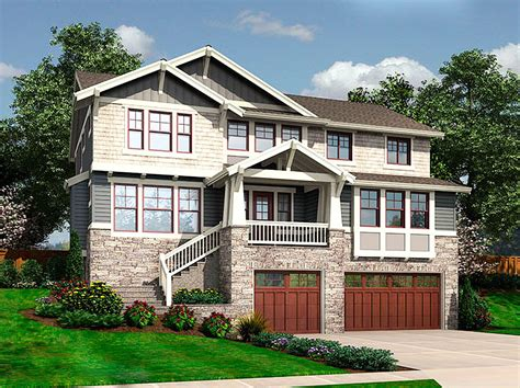 house plans for sloping lots for the front sloping lot 23404jd architectural designs house plans