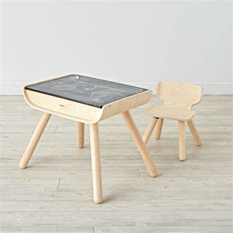 desk and chair sets wooden play table chair sets the land of nod