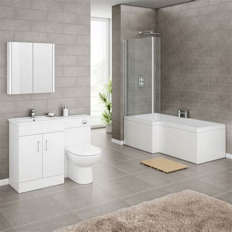 shower baths suites turin high gloss white vanity unit bathroom suite with