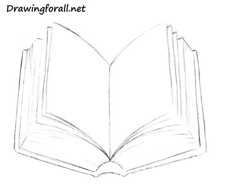 how to draw book how to draw a book drawingforall net