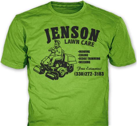 landscaping t shirts lawn care landscaping company t shirts promotional