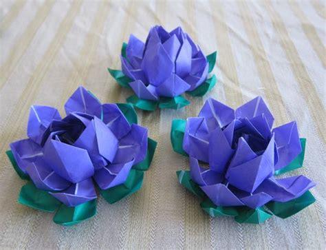 japanese flower origami purple origami lotus flower