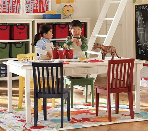 pottery barn craft table carolina craft table traditional tables and