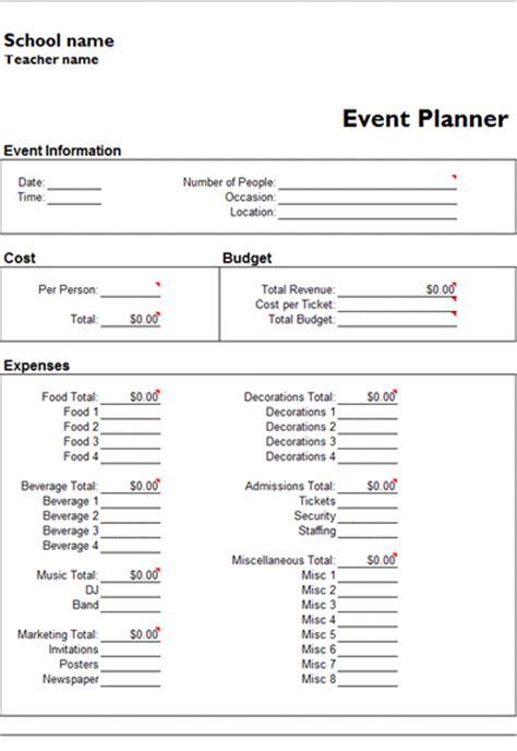 free event planner template calendar template 2016