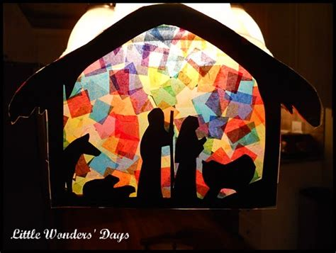 manger craft for nativity sun catcher family crafts