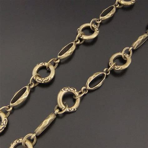 brass chain for jewelry 1pcs antique bronze ready to use necklace brass chain 13