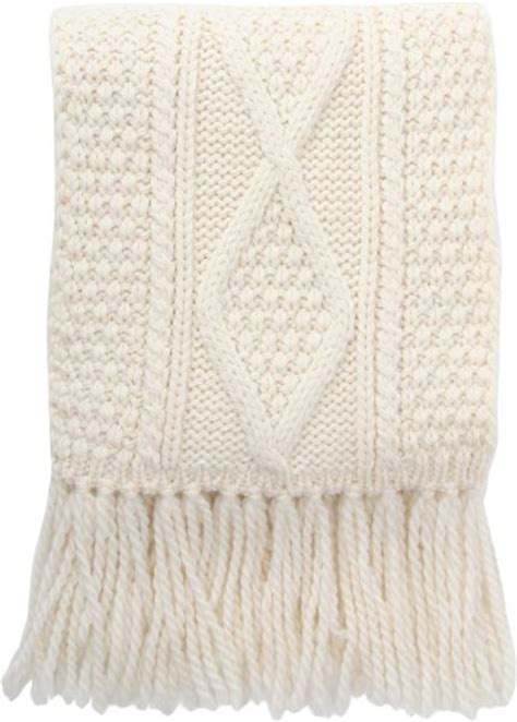 cable knit scarves barneys new york cable knit muffler scarf in white