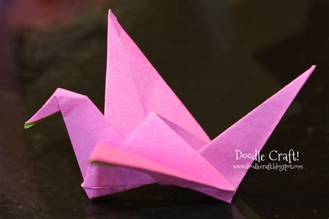 foldable paper crafts doodlecraft origami flapping paper crane mobile