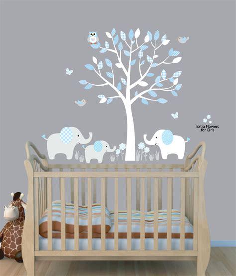 boy nursery wall decor elephant tree nursery sticker decal boys room wall decor