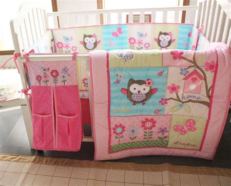 owl bedding sets for cribs new baby pink nursery bedding set 8pcs crib cot