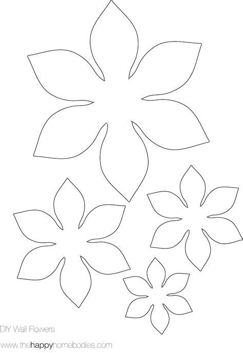 flower paper craft template flower template on