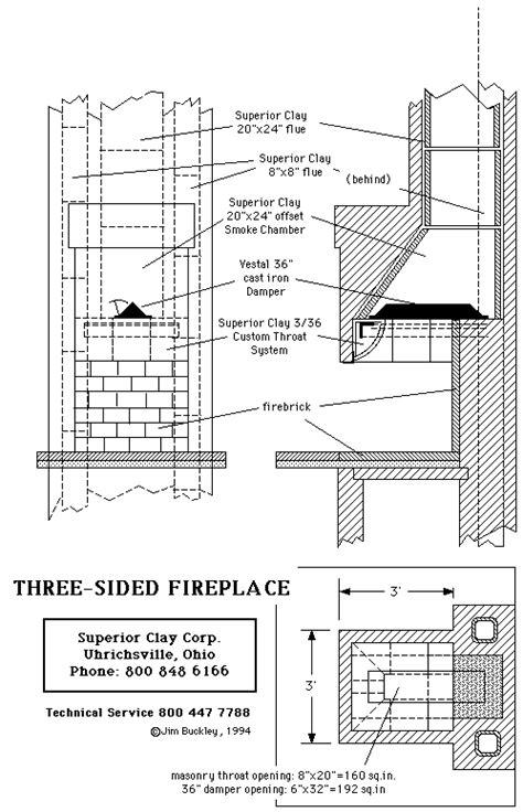 fireplace plan plans free