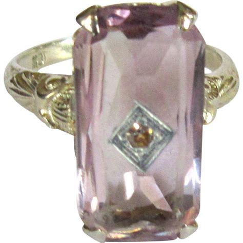 amethyst 18k gold ring filigree deco from lakegirlvintage on ruby