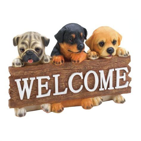 Decorated Houses For Halloween by Dog Welcome Plaque Wholesale At Koehler Home Decor