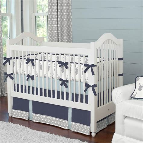 deer baby crib bedding silver gray deer crib comforter carousel designs