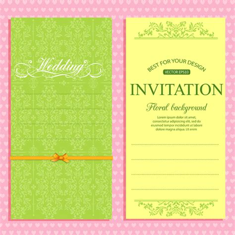 invitation card software free wedding invitation card template free vector in adobe