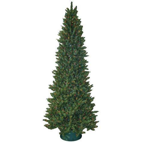 pre lit colored lights tree general foam 9 ft pre lit slender spruce artificial