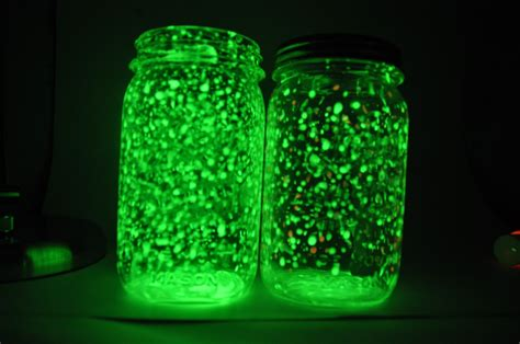 glow in the paint jar glitter made with diy rechargeable glow jars