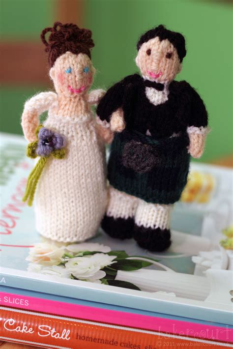 knitted wedding cake toppers bakercourt knitting sewing crafting alan dart s