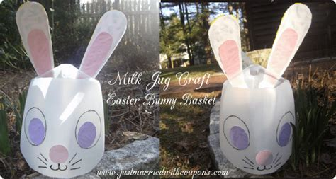 milk crafts for milk jug easter bunny basket craft homemaking hacks