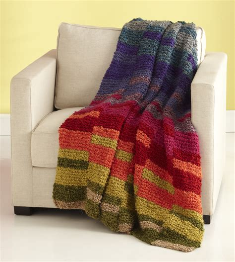 easy afghans to knit light spectrum afghan allfreeknitting