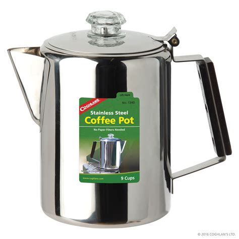 Stainless Steel Coffee Pot   9 Cup   Cook & Grill   Coghlan's