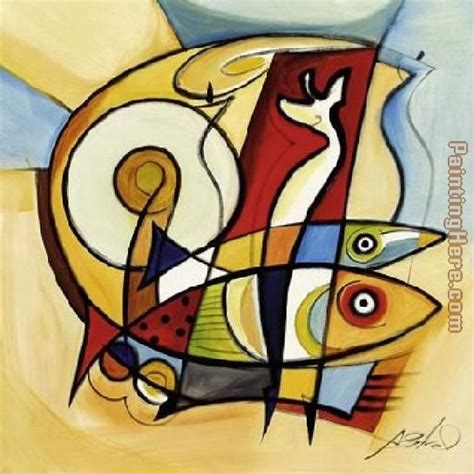 picasso paintings fish alfred gockel sun fish ii painting anysize 50 sun