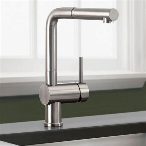 blanco kitchen faucets blanco 441335 linus truffle pullout spray kitchen faucets