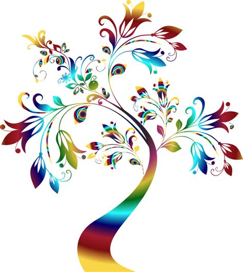 colorful tree clipart colorful floral tree 3