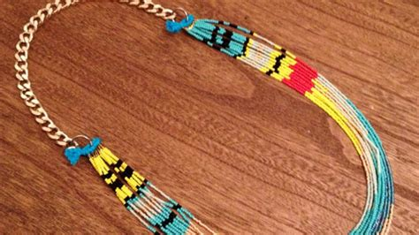 learn how to bead american how to make a american necklace diy style