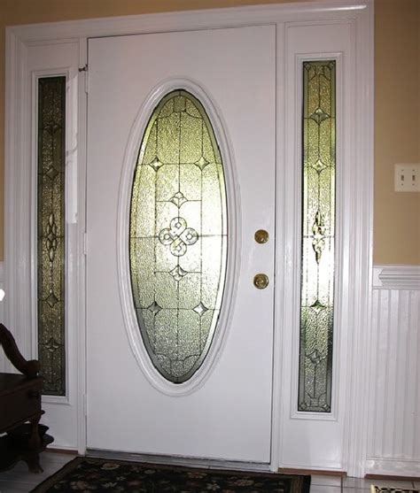 stained glass inserts for exterior doors leaded glass front door inserts leaded glass front