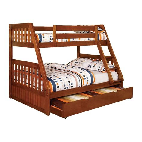furniture of america bunk beds furniture of america canberra bunk bed with trundle atg