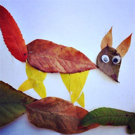 leaf craft for leaf fox craft for to make crafty morning