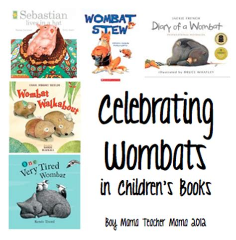 wombat picture book book celebrating wombats in children s books wombat