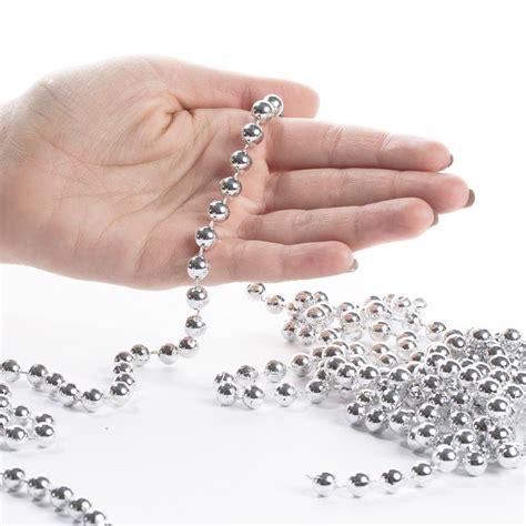 silver bead garland silver bead garland craft supplies sale sales