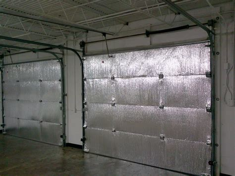insulation for garage doors make your garage energy efficient easy install of radiant