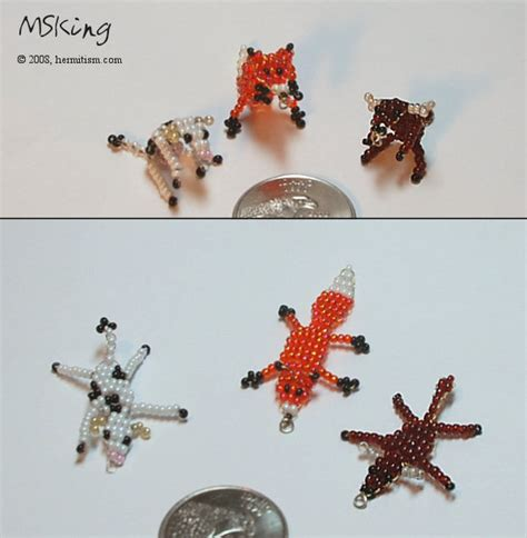 beaded animals free patterns 2d bead animals 3 by hermitworm on deviantart