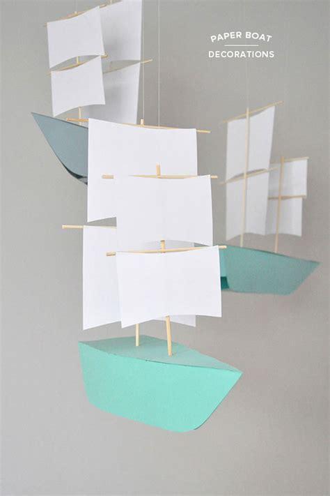paper boat craft diy paper boat decorations
